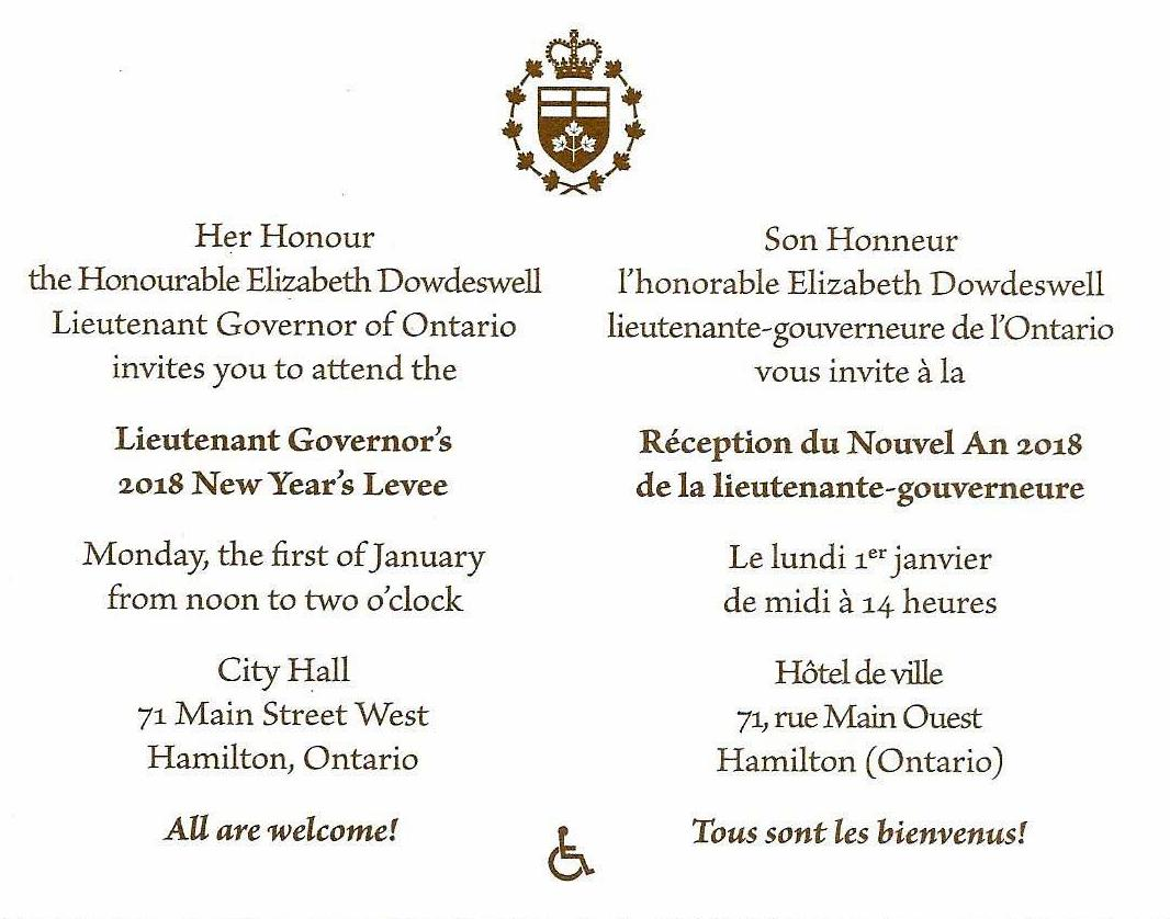 Governor General Invitations