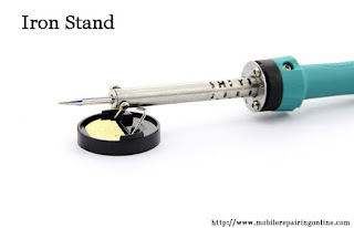soldering iron stand used to keep the hot iron tip when setting solder iron down after soldering