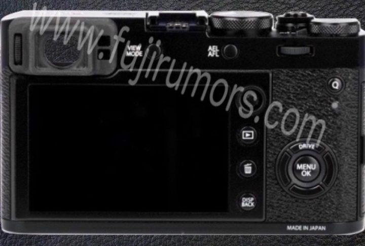 Fujifilm X100F, вид сзади