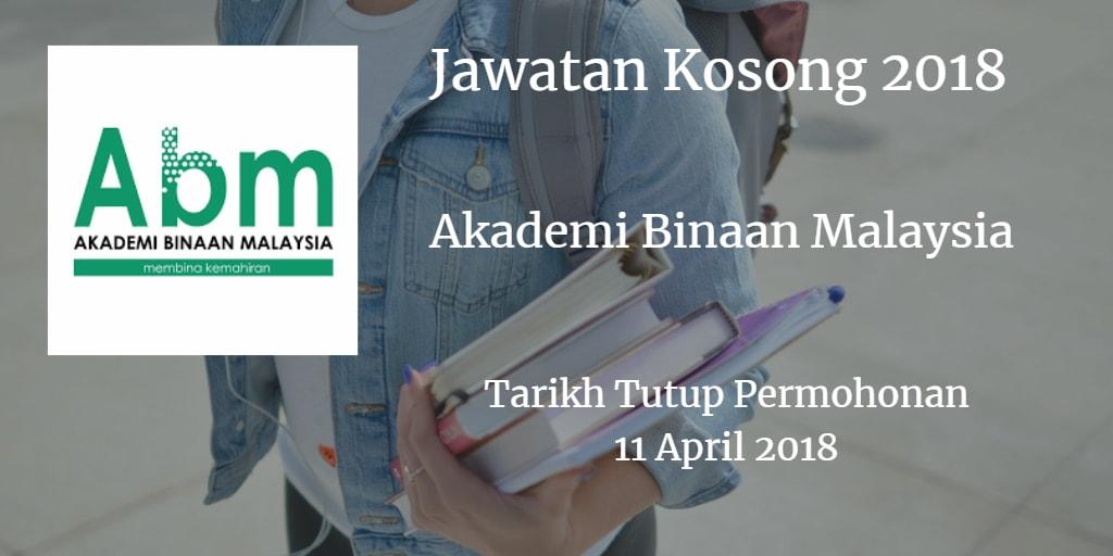 Jawatan Kosong ABM 11 April 2018