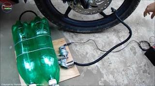 membuat sendiri kompresor mini sederhana dari botol bekas