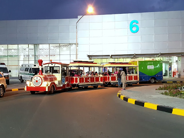 Train at the 41st Kuwait International Book Fair in Halls 5, 6 and 7 of the Mishref International Fair Grounds