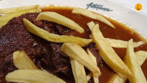 Carrillada de buey estofada en Asturianos Madrid