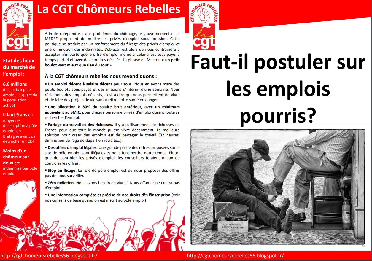 Presence Cgt Au Forum Pour L Emploi A Lanester Cgt Chomeurs