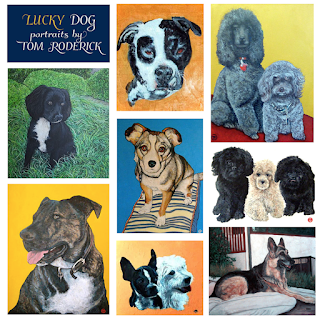 Lucky Dog Portraits by Boulder artist Tom Roderick