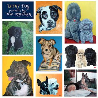 Lucky Dog Portraits by Boulder artist Tom Roderick