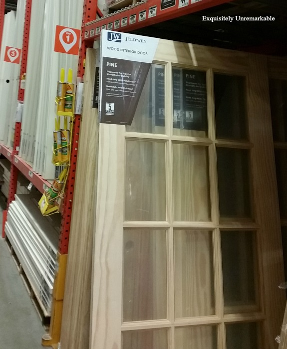 Home Depot Interior Pine French Door in the store