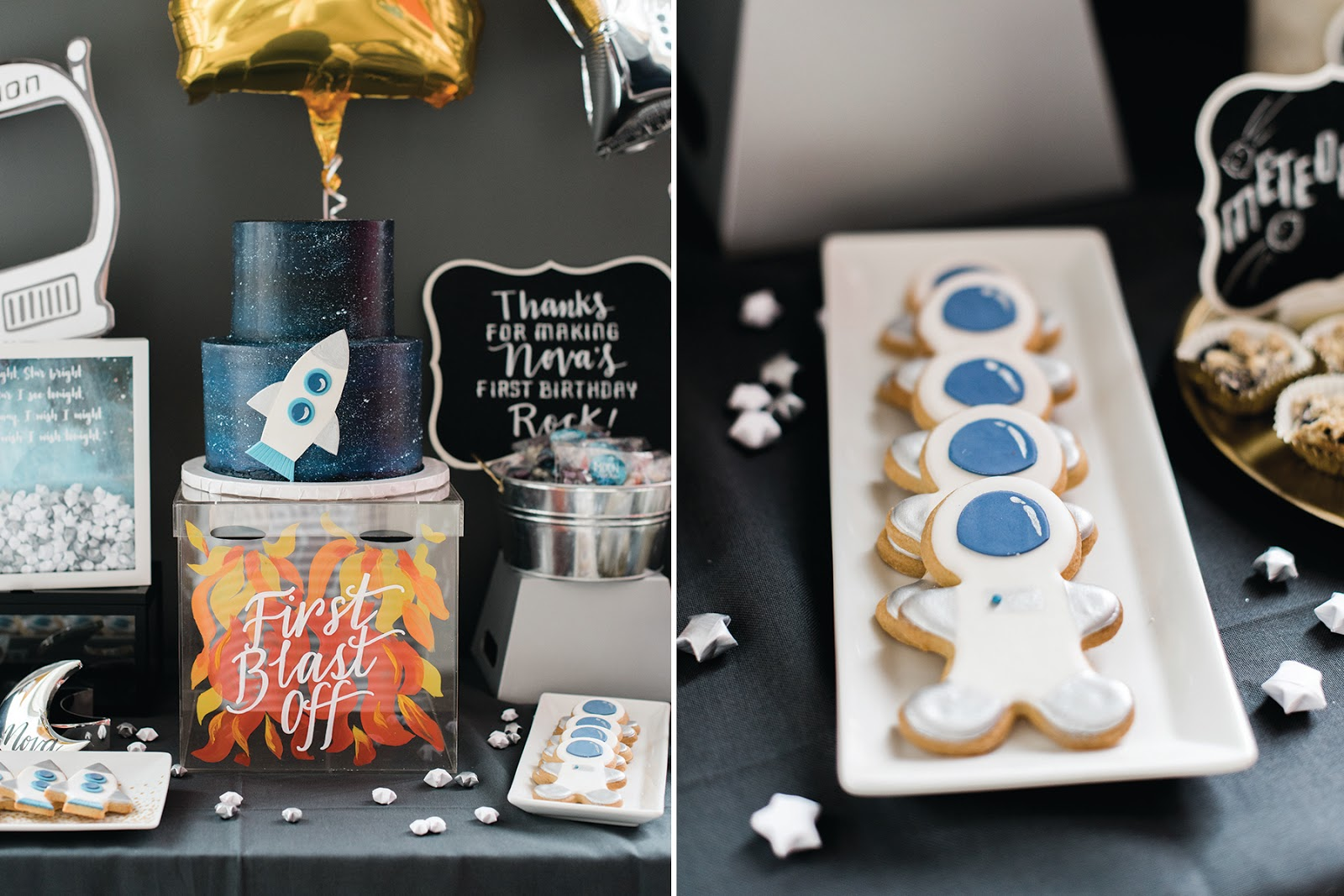 let's party to the moon and back - first birthday party | Creative Bag