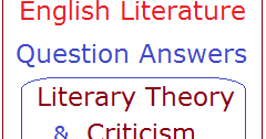 English Literature Multiple Choice Questions on Literary