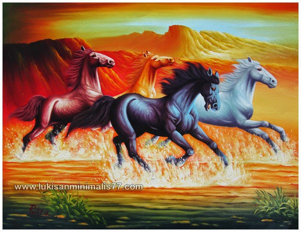 Gambar  15 Lukisan  Kuda  Karya Marcia Baldwin Seni Rupa