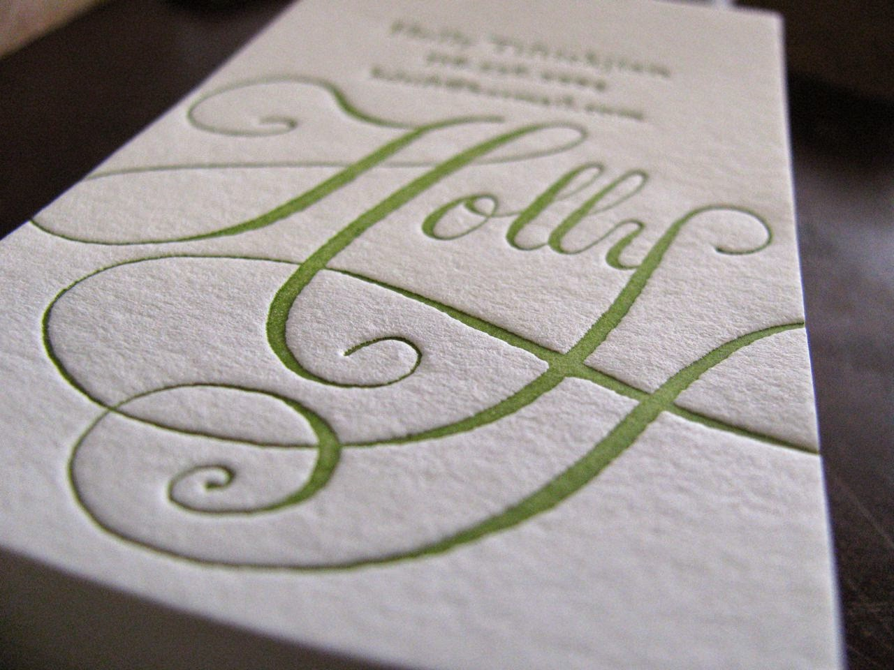 french press blog: Letterpress Business Card SALE