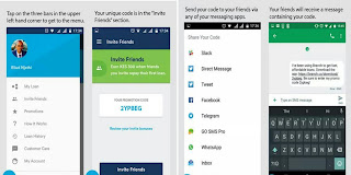 How to invite friends from social media on branch loan app