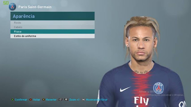 Neymar Face With New Hair - PES 2019 - PATCH PES
