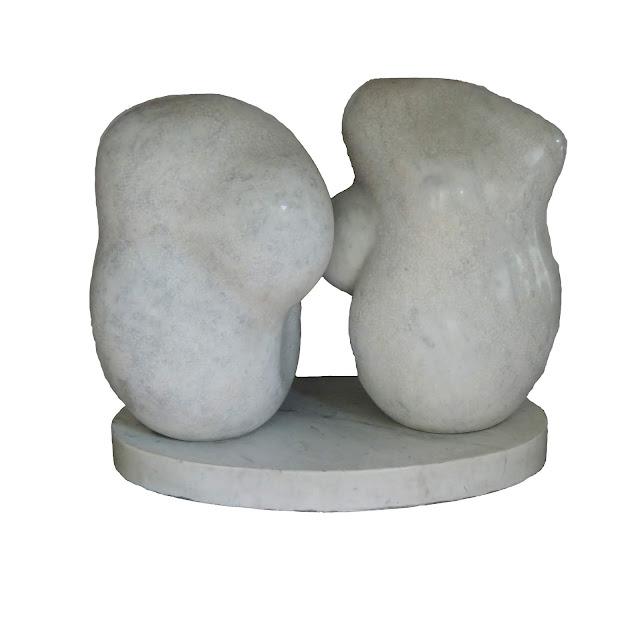 Escultura mármol carrara Pablo Serrano unidad yunta