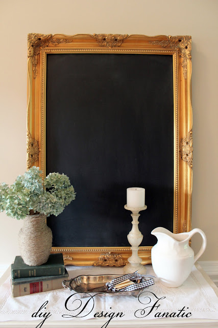 Framed Chalkboard,chalk board, make a chalkboard from a mirror, cottage, cottage style, farmhouse, farmhouse style, diyDesignFanatic.com, craft