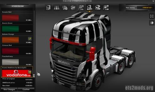 Zebra and Tygr Scania Skins