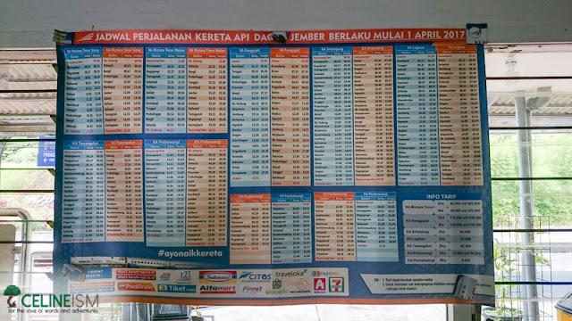 train schedule from banyuwangi to yogyakarta