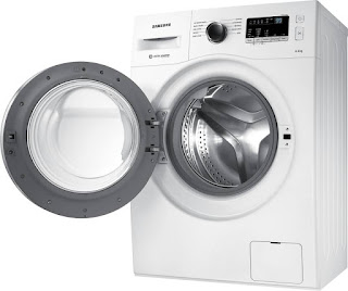 samsung 6.5 kg Fully-Automatic Front Loading Washing Machine (WW65M206L0W/TL, White