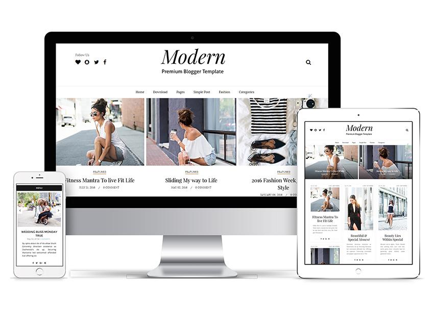 Share Free Blogger Templates Modern Grid Blogger Template