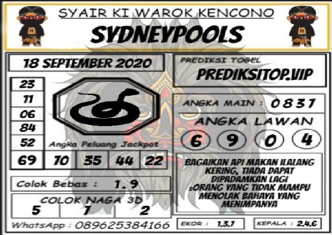 Kode syair Sydney Jumat 18 September 2020 140