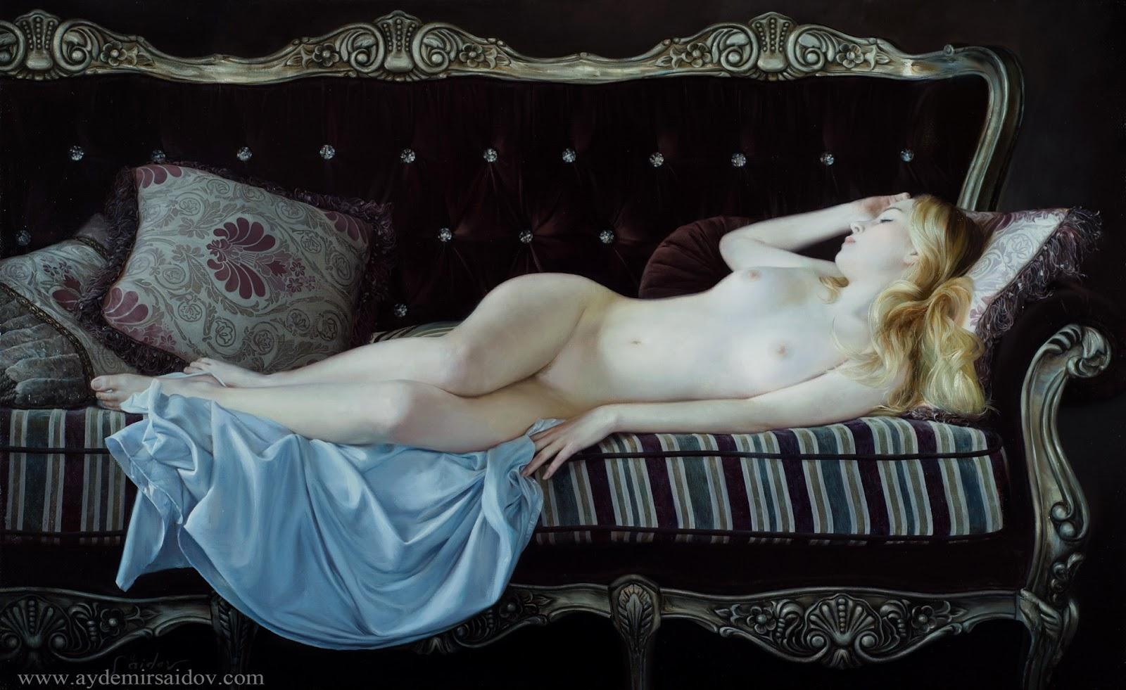 Hyperrealistic Oil Paintings by Aydemir Saidov - Sleeping beauty (2013)