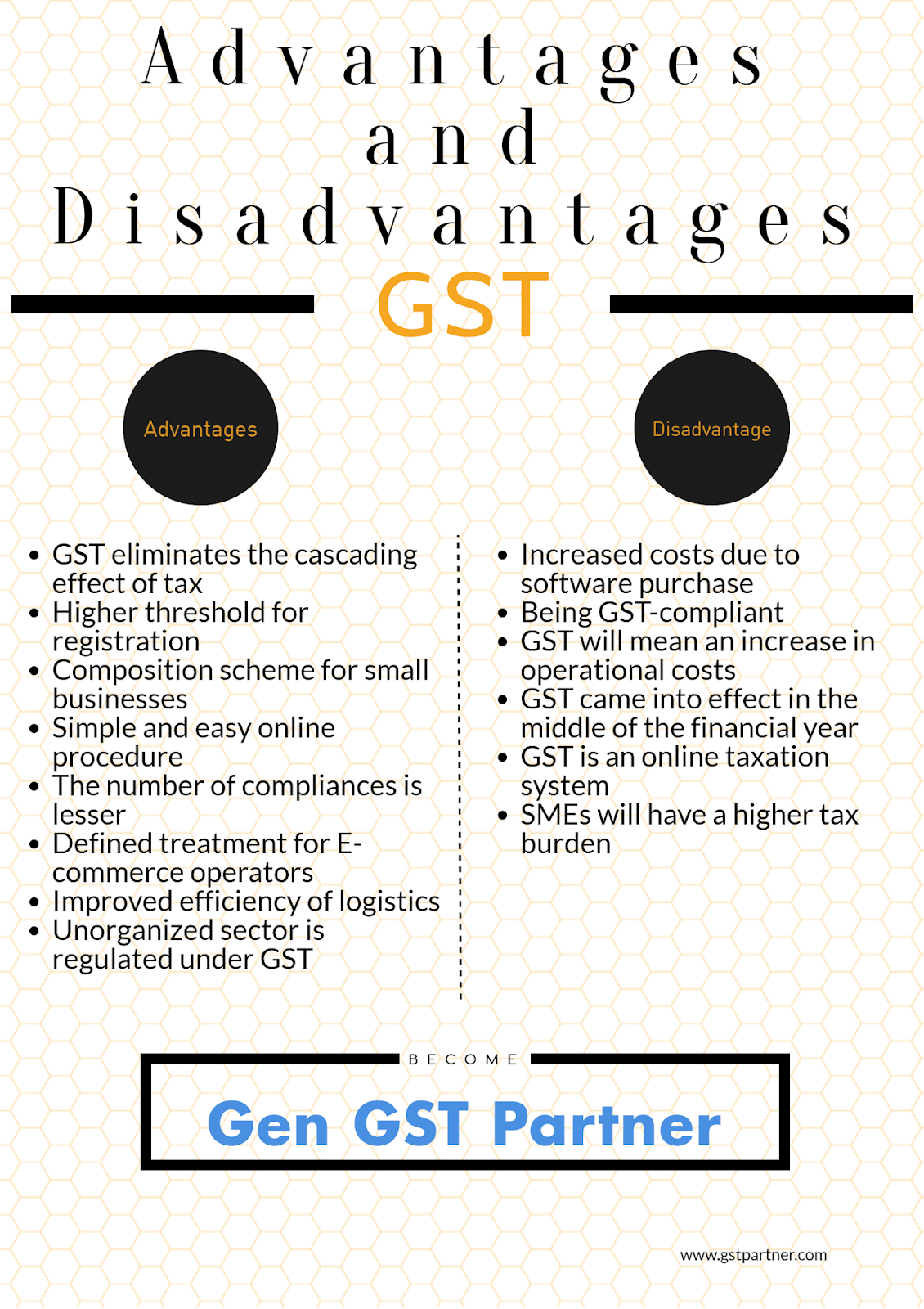 disadvantages of gst However lump sum for any additional press of the same or lower size shall be computed at one-half of the full rate tabulated above indian needs gst,the compounding scheme both for cgst & sgst will have a drastic effect on the number of assessee base.