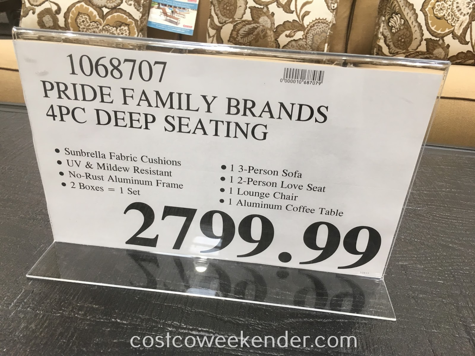 Deal for the Pride Family Brands 4 piece Deep Seating Set at Costco