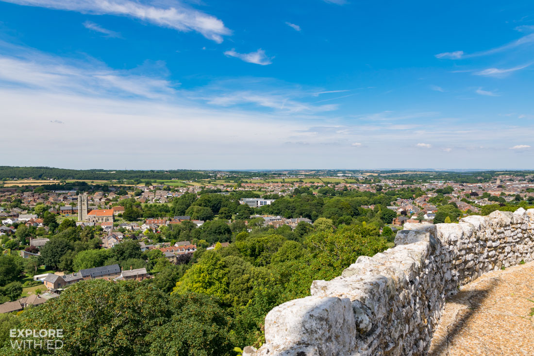 View from the top of Carisbrooke Castle