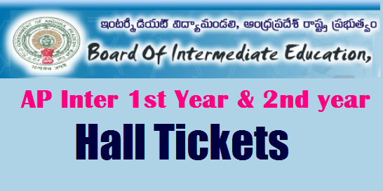 AP Intermediate hall tickets 2018-2019 manabadi