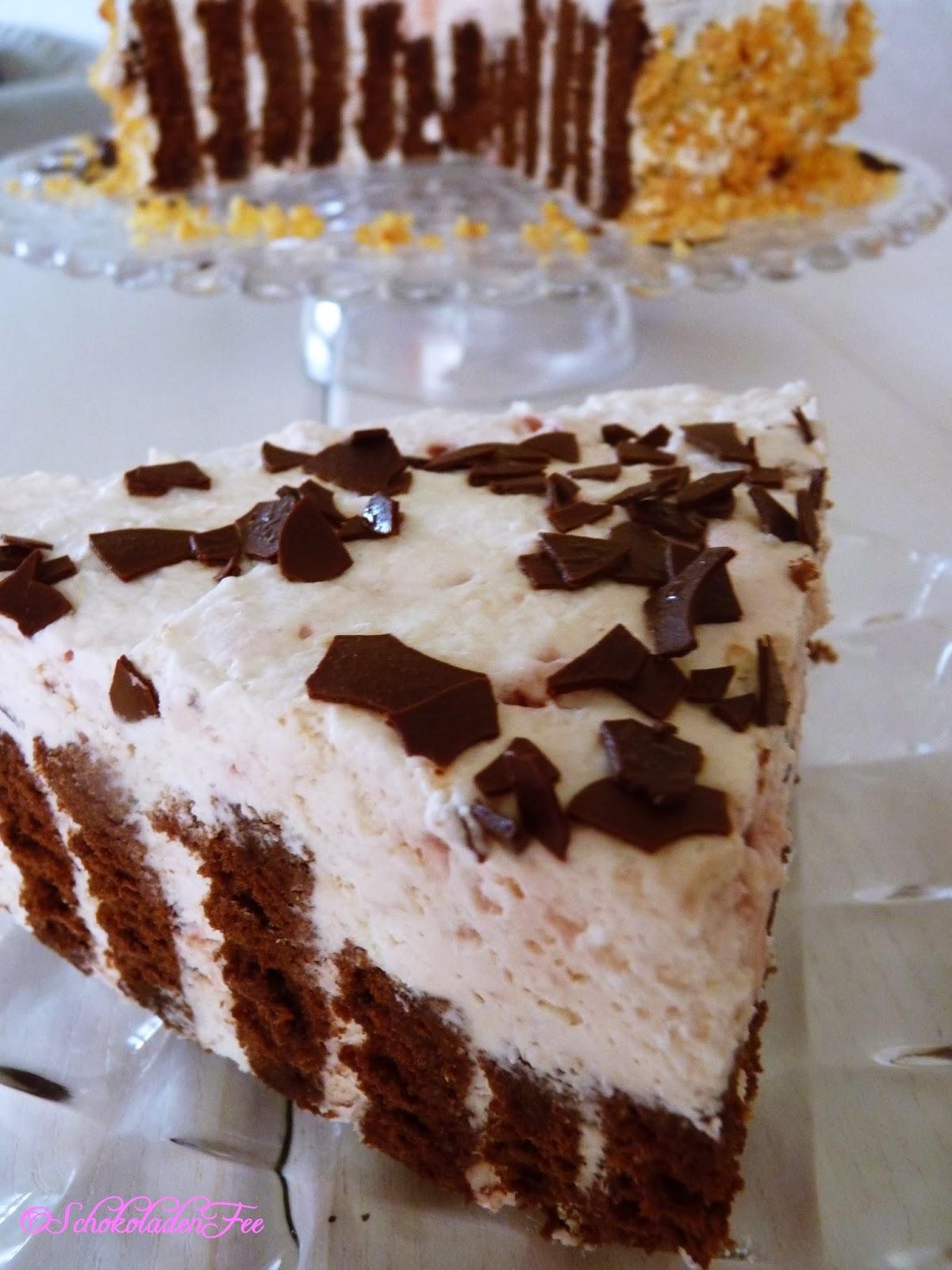 Schwarz Weiss Himbeer Torte Schokoladenfee