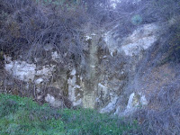 Seasonal waterfall along old 2N28 in Water Canyon, Angeles National Forest