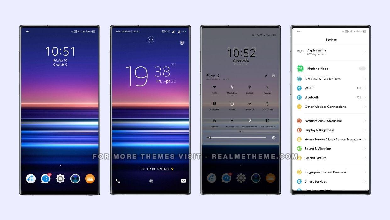 Xperia UI Theme for Realme Devices