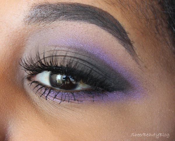 picture of purple cut crease