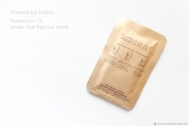 Influenster #Radiance VoxBox Unboxing - Flawless by Friday Flawless in 15 Under Eye Rescue Mask Review - Christina Truong