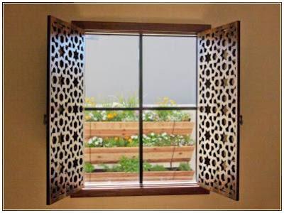 contoh model kusen jendela kamar unik