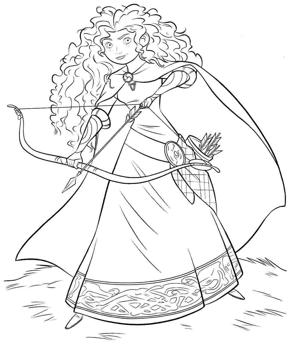 Free Disney Brave Coloring Pages Printabel | colouring pages disney princesses printable