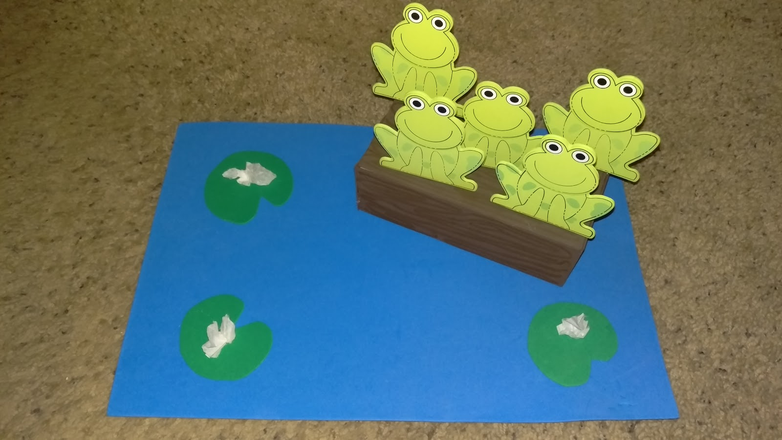 Jack Of All Trades Tot School 5 Little Speckled Frogs