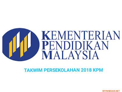 Kalendar Takwim Penggal Persekolahan 2018 KPM