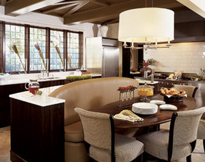 Style & Substance: August 2011 - Kitchen Island With Booth Seating