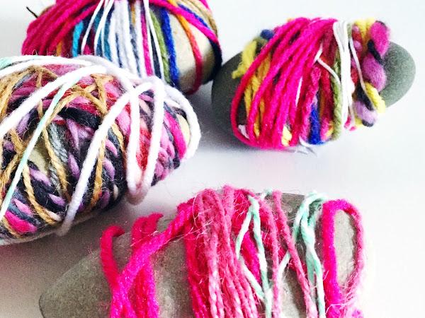 Yarn-Wrapped Rocks