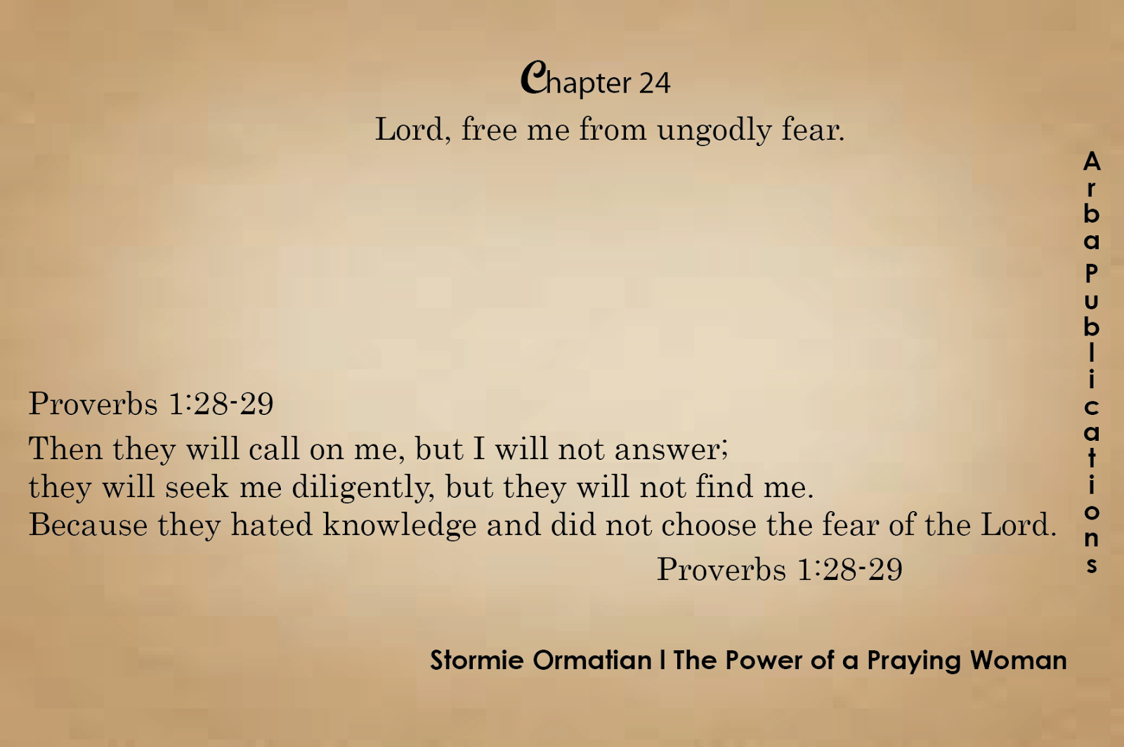 ARBA Publications: # Chapter 24: Lord, free me from ungodly