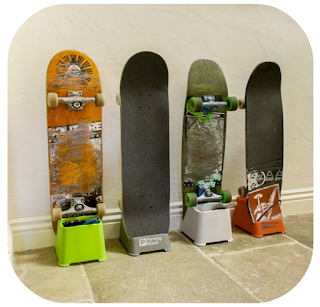 complete skateboard home storage