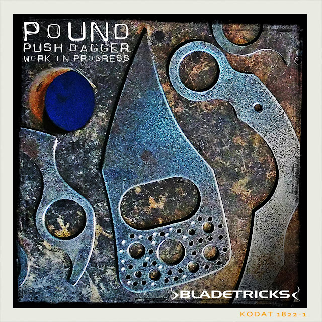 Best knife maker Bladetricks original badass Pound Push Dagger WIP