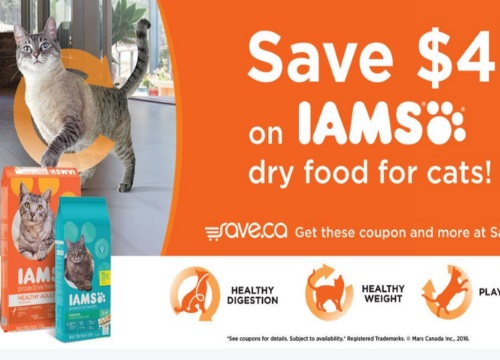 Save.ca Iams Cat Food Coupon