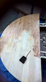 staining wood table