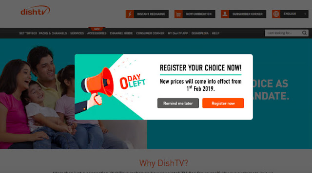 Dish TV DTH channels selection: How to choose channels online as per TRAI's new rules