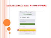Panduan Aktivasi Akun Aplikasi PIP SMA