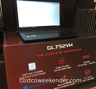 Browse the web, play games, or do work on the Asus ROG GL752VW laptop