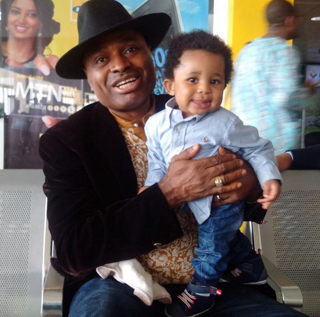 Testimony: Kenneth Okonkwo gushes over his first son after 9 years of marriage