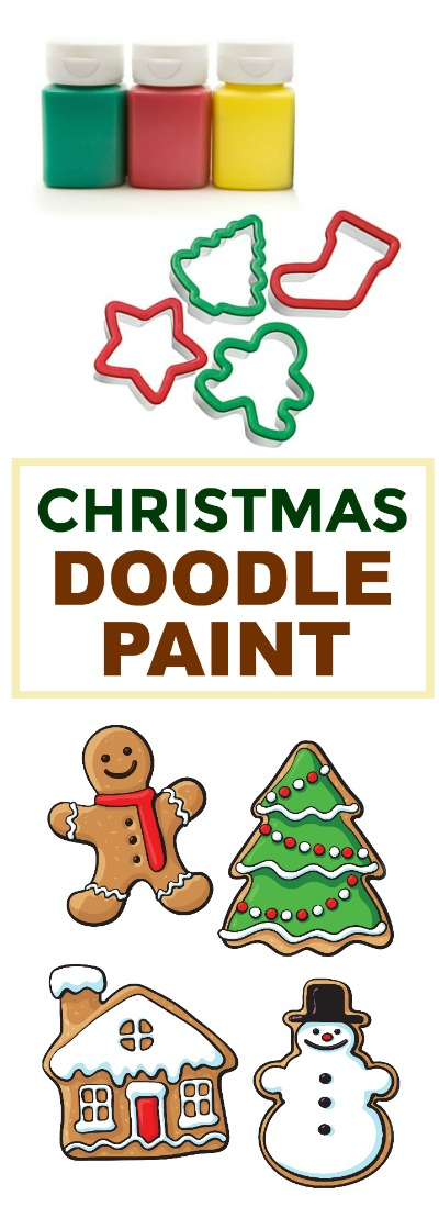 DOODLE PAINT FOR KIDS: Make your own holiday window stickers using this easy homemade paint recipe!  SO COOL!  #doodlepaint #paintrecipesforkids #Christmascraftsforkids